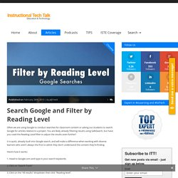 Search Google and Filter by Reading Level