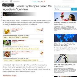 Food Pair: Search For Recipes Based On Ingredients You Have