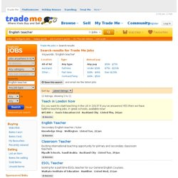 Job search results - Find NZ jobs on Trade Me Jobs