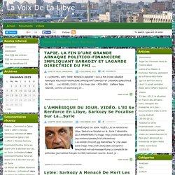 "La VOIX de La LIBYE : ""Sarkozy"""