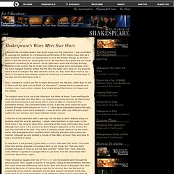 In Search of Shakespeare . Shakespeare's Wars Meet Star Wars