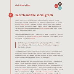Search and the social graph cdixon.org – chris dixon's blog