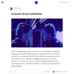 In Search of Lost Solidarities — SWITCH COLLECTIVE