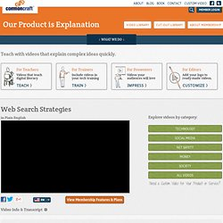 Web Search Strategies in Plain English - Common Craft - Our Prod