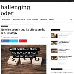No click search and its effect on the SEO Strategy - Challenging Coder