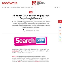 The First .XXX Search Engine - It's Surprisingly Demure