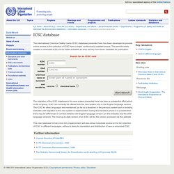 Search the ICSC Card database