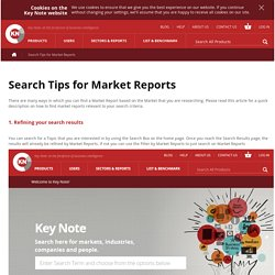 Search Tips for Market Reports