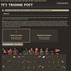 Search Trades - TF2 Trading Post