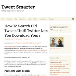 All the easiest ways to search old tweets