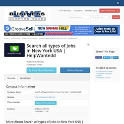 Search all types of Jobs in New York USA