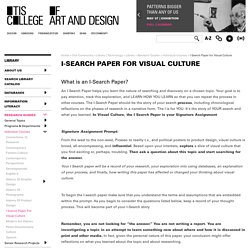 I-Search Paper for Visual Culture