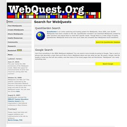 Search for WebQuests