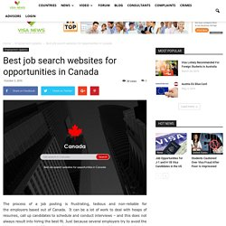 Best job search websites for opportunities in Canada