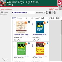 Staff PD books list - Westlake Boys High School -
