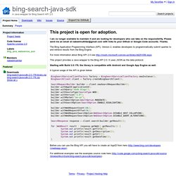 bing-search-java-sdk - A Java wrapper for Bing Search API 2.0