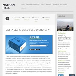 Divii: A searchable video dictionary