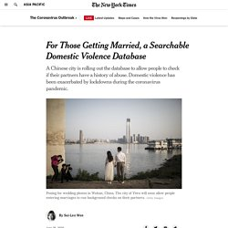 For Those Getting Married, a Searchable Domestic Violence Database