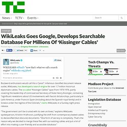 WikiLeaks Goes Google, Develops Searchable Database For Millions Of 'Kissinger Cables'