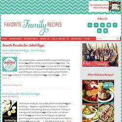 Favorite Family Recipes: Eggs