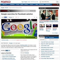 Google searches for Facebook solution - Michelle Quinn