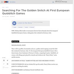 NPR - Searching For The Golden Snitch At First European Quidditch Games