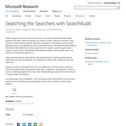 Searching the Searchers with SearchAudit