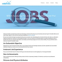 Searching for Jobs for Students? Download miService for Free