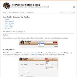 The Perseus Catalog
