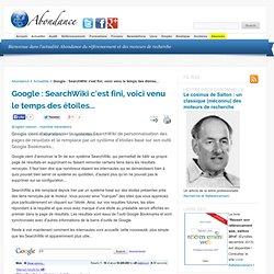 Google : SearchWiki c'est fini, voici venu le temps des étoiles.