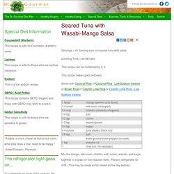 Seared Tuna with Wasabi-Mango Salsa : Tuna Steak with Sake-Wasabi Sauce