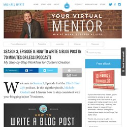 Season 3, Episode 8: How to Write a Blog Post in 70 Minutes or Less [Podcast]
