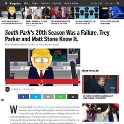 'South Park' Season 20 Finale Recap - 'South Park' Ends Season 20 by Admitting Defeat