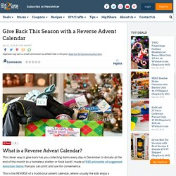 Give Back This Season with a Reverse Advent Calendar!