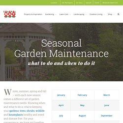 Seasonal Garden Maintenance - Earl May Nursery and Garden Centers