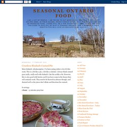 Seasonal Ontario Food: Crustless Rhubarb-Custard Pie