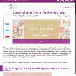 Seasonal color Trends for Wedding-2017