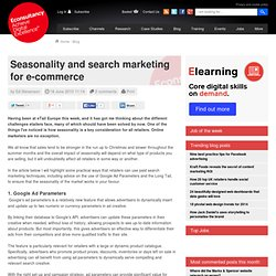 Seasonality and search marketing for e-commerce