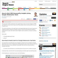 Cómo obtener SEO Estacionalidad Insights Usando Google Webmaster Tools - Search Engine Watch (# SEW)