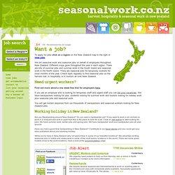 Où travailler et quand en NZ