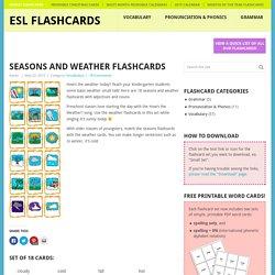 Seasons and Weather Flashcards - ESL Flashcards
