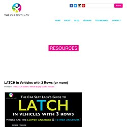 The Car Seat Lady – LATCH in Vehicles with 3 Rows (or more)