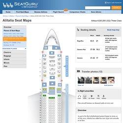 Seat Map Alitalia Airbus A330-200 (332) Three Class
