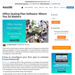 Office Seating Plan Software: Where You Sit Matters