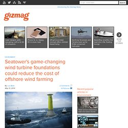 Seatower's game-changing wind turbine foundations could reduce the cost of offshore wind farming