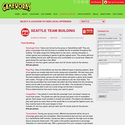 Prize Play Game for Teambuilding in Seattle