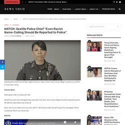 """WATCH: Seattle Police Chief """"Even Racist Name-Calling Should Be Reported to Police"""""""