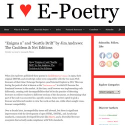 """Enigma n"" and ""Seattle Drift"" by Jim Andrews: The Cauldron & Net Editions – I ♥ E-Poetry"