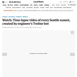 Watch: Time-lapse video of every Seattle sunset, created by engineer's Twitter bot