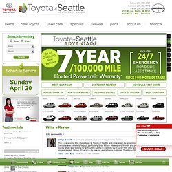 Toyota of Seattle | Seattle Toyota Dealer | Used Cars Seattle | Toyota Dealership Seattle, Washington